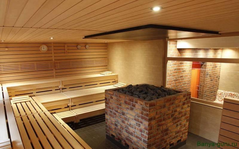 Высота потолка в бане с электрокаменкой