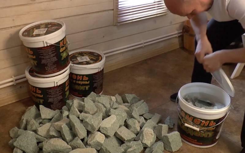 Как подготовить камни для бани